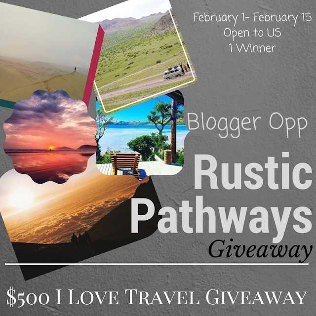 Blogger Opp Rustic Pathways Giveaway