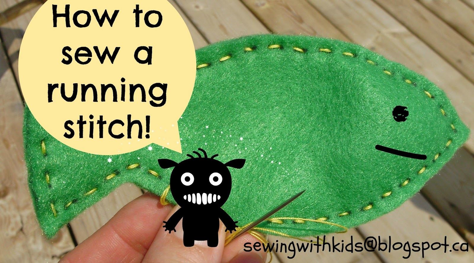 Sewing With Kids How To Sew A Running Stitch
