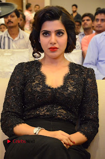 Actress Samantha Pictures in Black Dress at A Aa Success Meet  0024