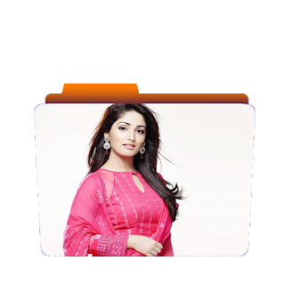 Preview of Cute Yami Gautam, pink dress folder icon