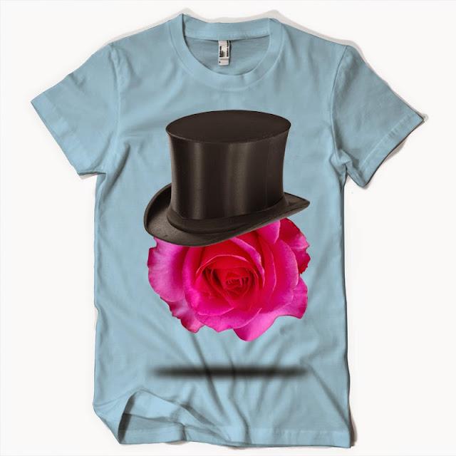 rose hat tshirt