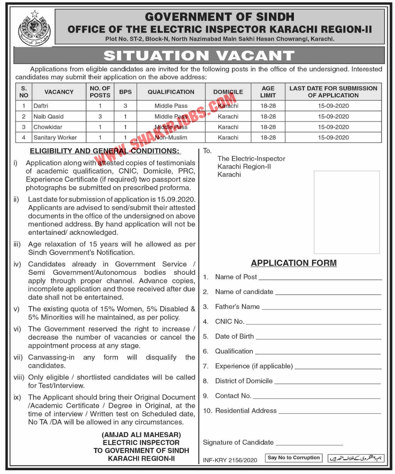 Jobs in Office Of The Electric Inspector Jobs September 2020
