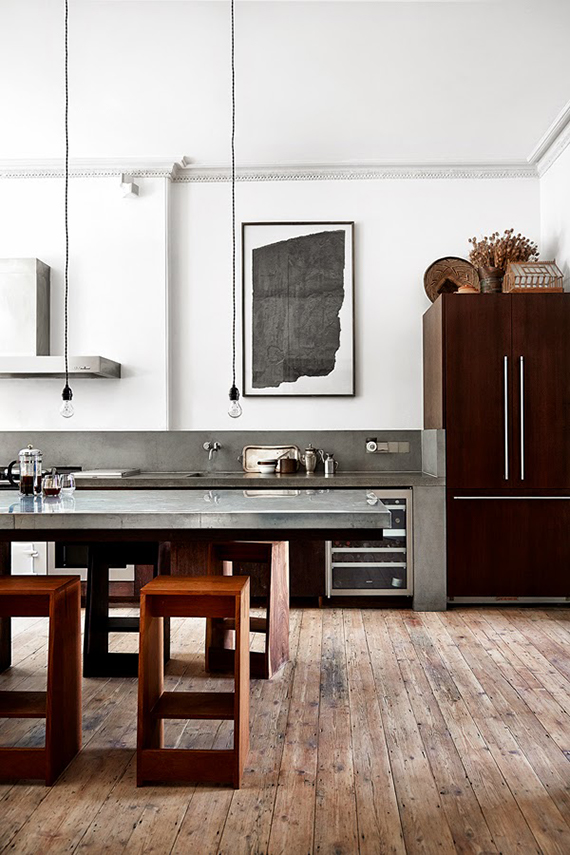 London townhouse kitchen. Photo by Bridget W. Drejer / Sisters Agency