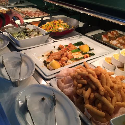 sheraton mirage;  buffet;  terraces restaurant;  seafood