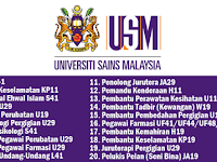 Jawatan Kosong di Universiti Sains Malaysia (USM)