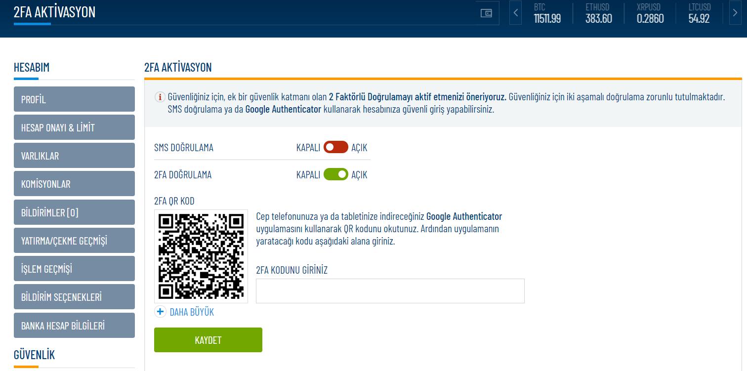 Kripto Para Borsası Güvenliğinde 2FA Neden Önemlidir? Icrypex 2FA Nasıl Aktif Edilir?