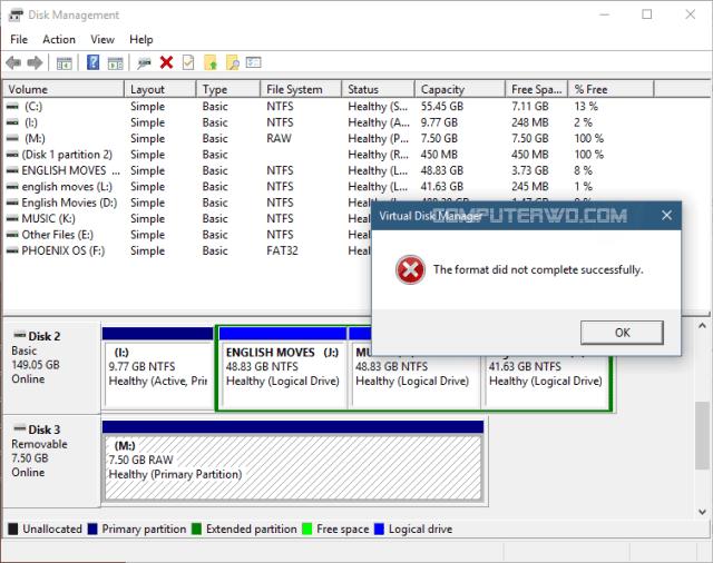 تجارب عملية حتي اصلاح فلاشة لا تقبل اعادة التهيئة Format