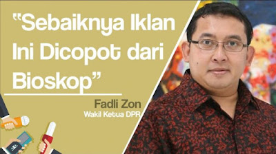 Tanggapan Fadli Zon Iklan Jokowi di Bioskop