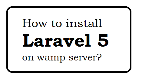 How to install Laravel 5 on wamp server
