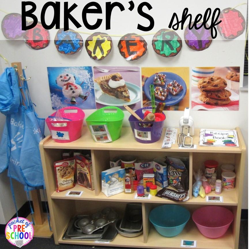 Cake Shop Bakery Store Set Kids Pretend Dramatic Play Printable