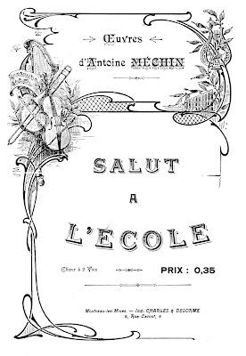 Hommage à l'école publique d'Antoine Méchin, instituteur de Sanvignes, né en 1868 (collection musée)