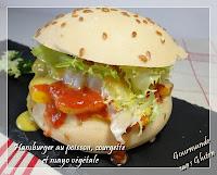 Hamburger sans gluten au poisson, courgette et mayonnaise végétale