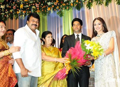 Cheeranjeevi at Sridevi Vijaykumar Reception