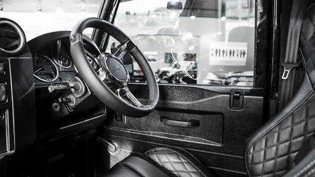 New Land Rover  defender by Khan Design Motor show interior dashboard