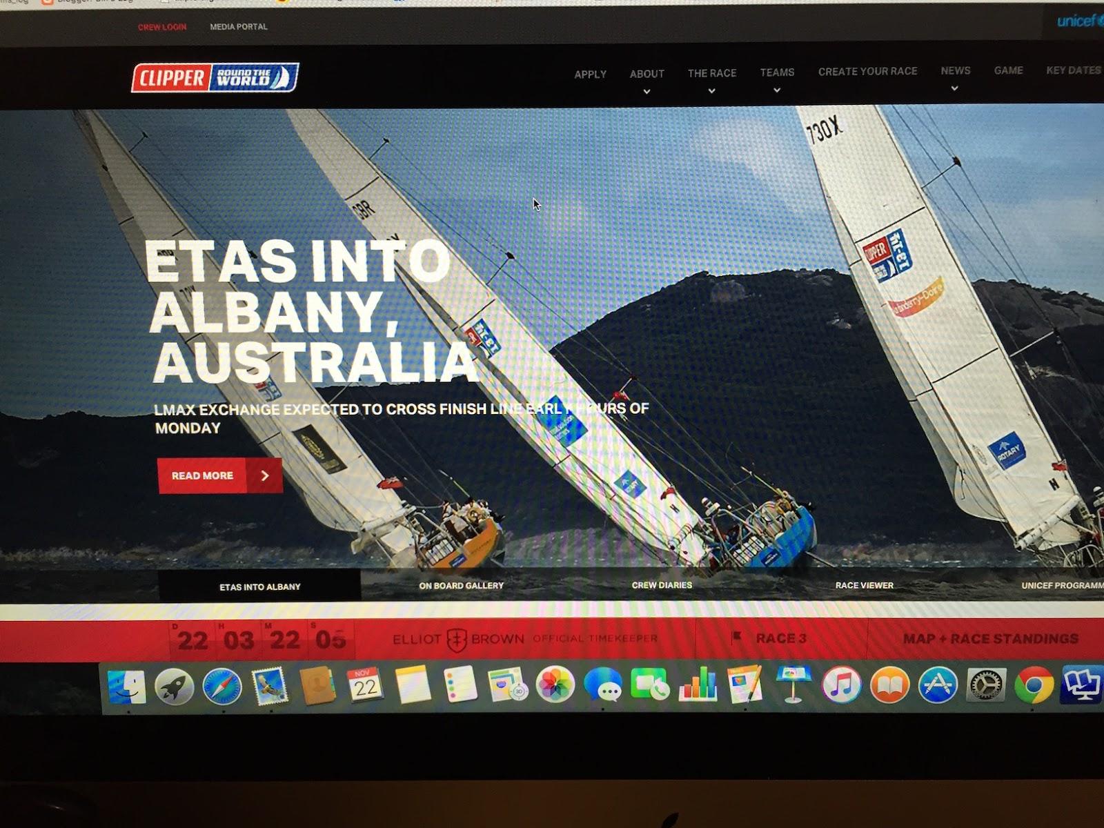 Bill's Log: Clipper Round the World Yacht Race