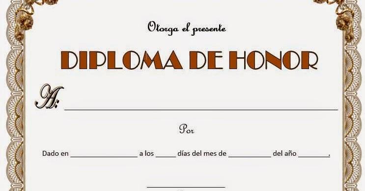 phairzios formato de diplomas de honor