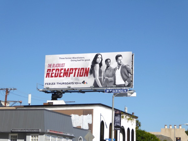 Blacklist Redemption series launch billboard