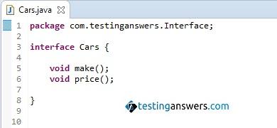 Cars Interface