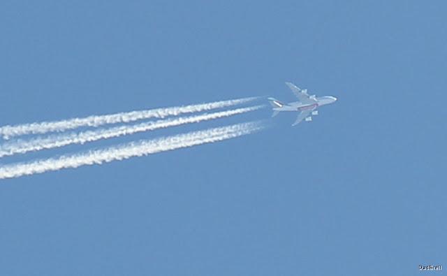 Avion A380 Emirates à 36000 pieds