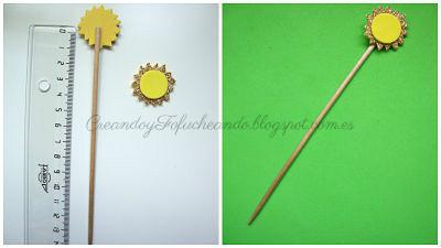 marcador para goma eva con adorno de sol