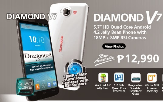 "Starmobile Diamond V7 5.7"" HD Quad Core Android Jelly Bean Smartphone"