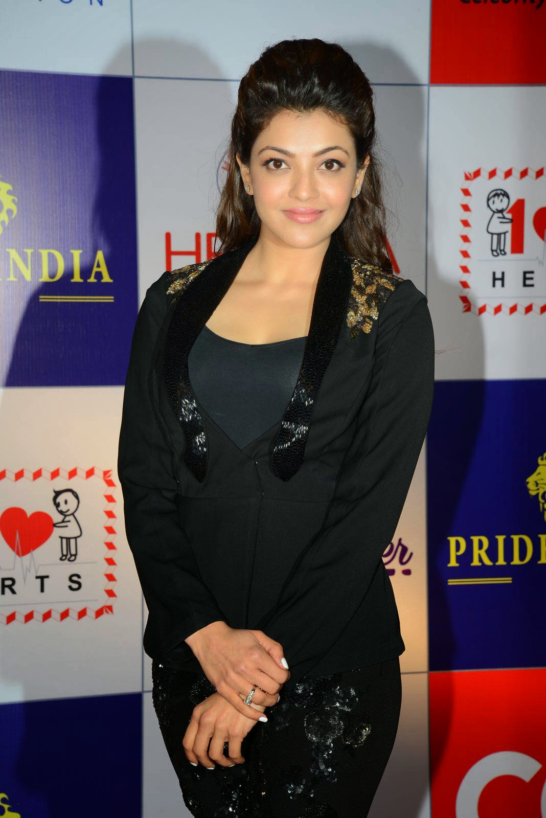 Actress Kajal Agarwal Latest Cute Hot Black Dress Spicy Photos Gallery At CCL Charity Dinner