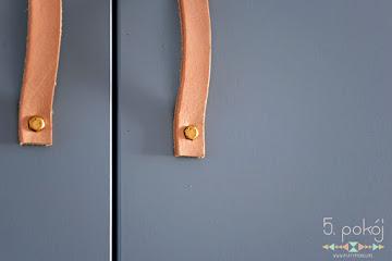 Tutorial DIY: Skórzane uchwyty do szafek