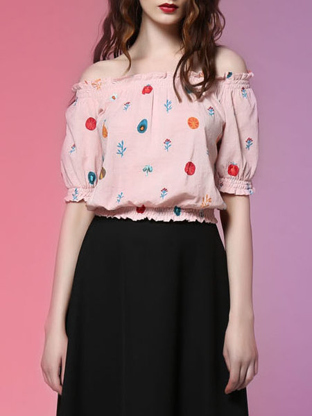 Pink Sweet H-line Cropped Top  Add to Favorites