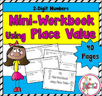 Place Value Mini Workbook using 2 Digit Numbers