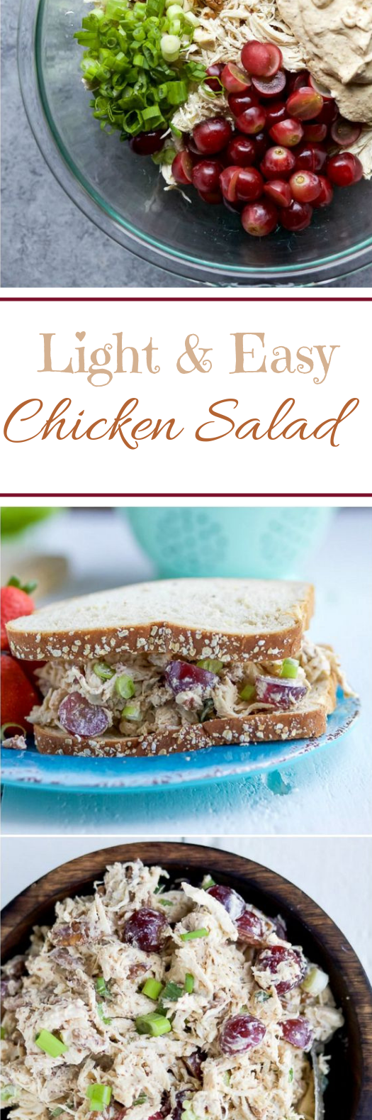 Light Chicken Salad #healthy #lunch