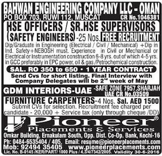 Bahwan engineering company llc oman jobs