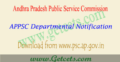 APPSC departmental test 2019 notification May/Nov ( 2020 )