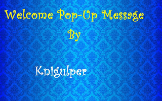 Create pop up welcome message for blogger