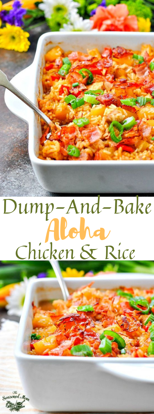 Dump-and-Bake Aloha Chicken and Rice #dinner #lunch