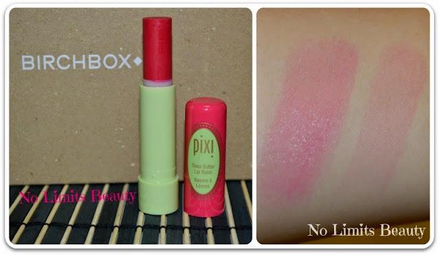BirchBox - Pixi Shea Butter Lip Balm - Red Raspberry (swatches)