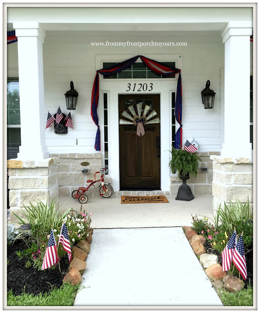 Farmhouse-Fourth of July-Patriotic Front Porch-From My Front Porch To Yours