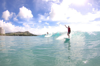 The Athertyn Lifestyle frees you to enjoy your favorite activities. Sam Ballam surfs Waikiki