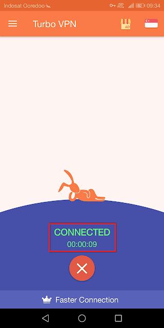 koneksi berhasil dan siap digunakan untuk browsing ke situs apapun