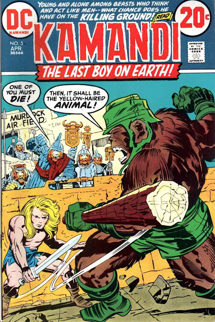 Kamandi v1 #5 dc 1970s bronze age comic book cover art by Jack Kirby