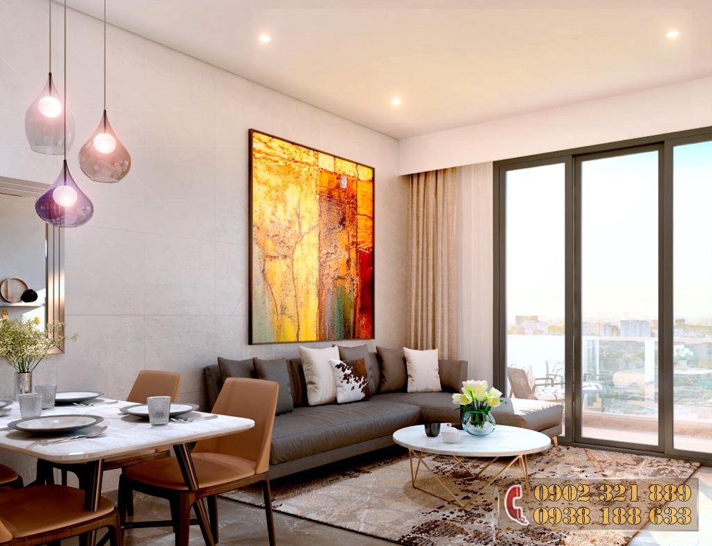 Nội thất căn hộ Kingdom 101 - Phòng khách căn hộ 2B