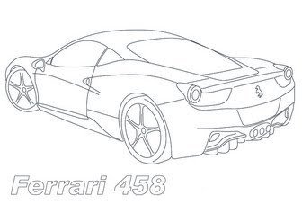Ferrari 458 Coloring Pages