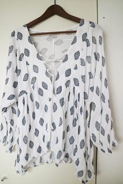 Shoppingausbeute Februar - www.josieslittlewonderland.de - gemusterte tunika von new yorker, blau weiße tunika, bluse mit kordel, fashion, new yorker haul, haul, fashion haul