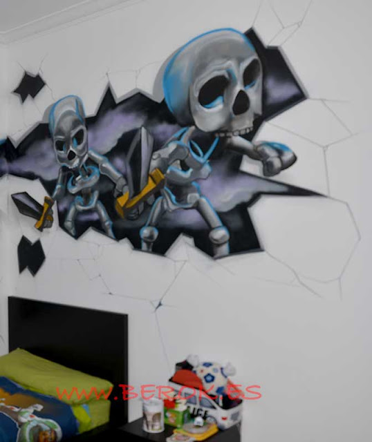 graffiti clash royale cementerio