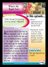 My Little Pony Where the Apple Lies Series 5 Trading Card
