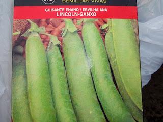 Semillas de guisante de variedad enana