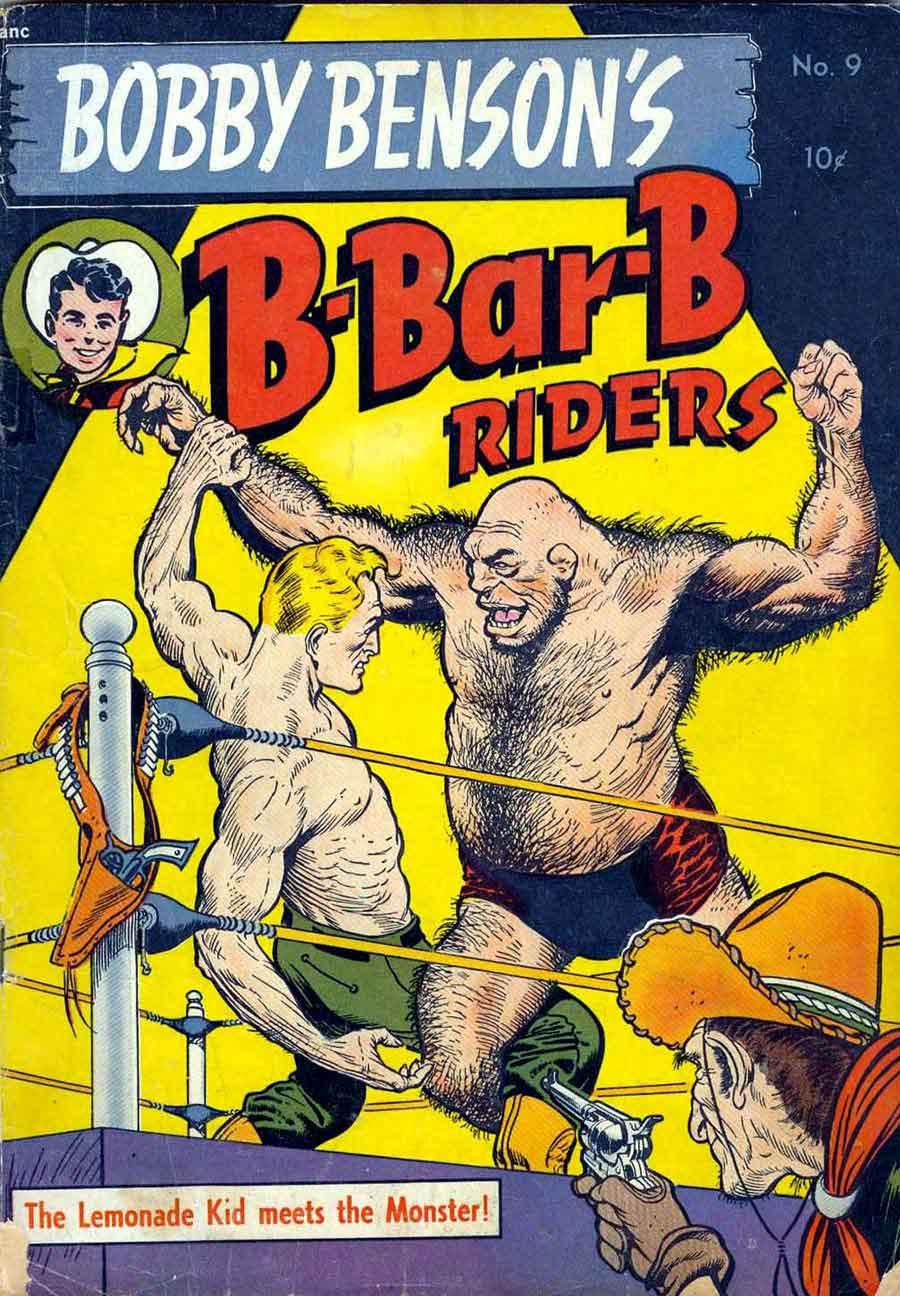 Bobby Benson's B-Bar-B Riders v1 #9 western comic book cover art by Frank Frazetta