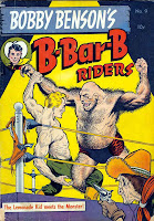 Bobby Benson's B-Bar-B Riders v1 #9 western comic book cover art by Frank Frazetta