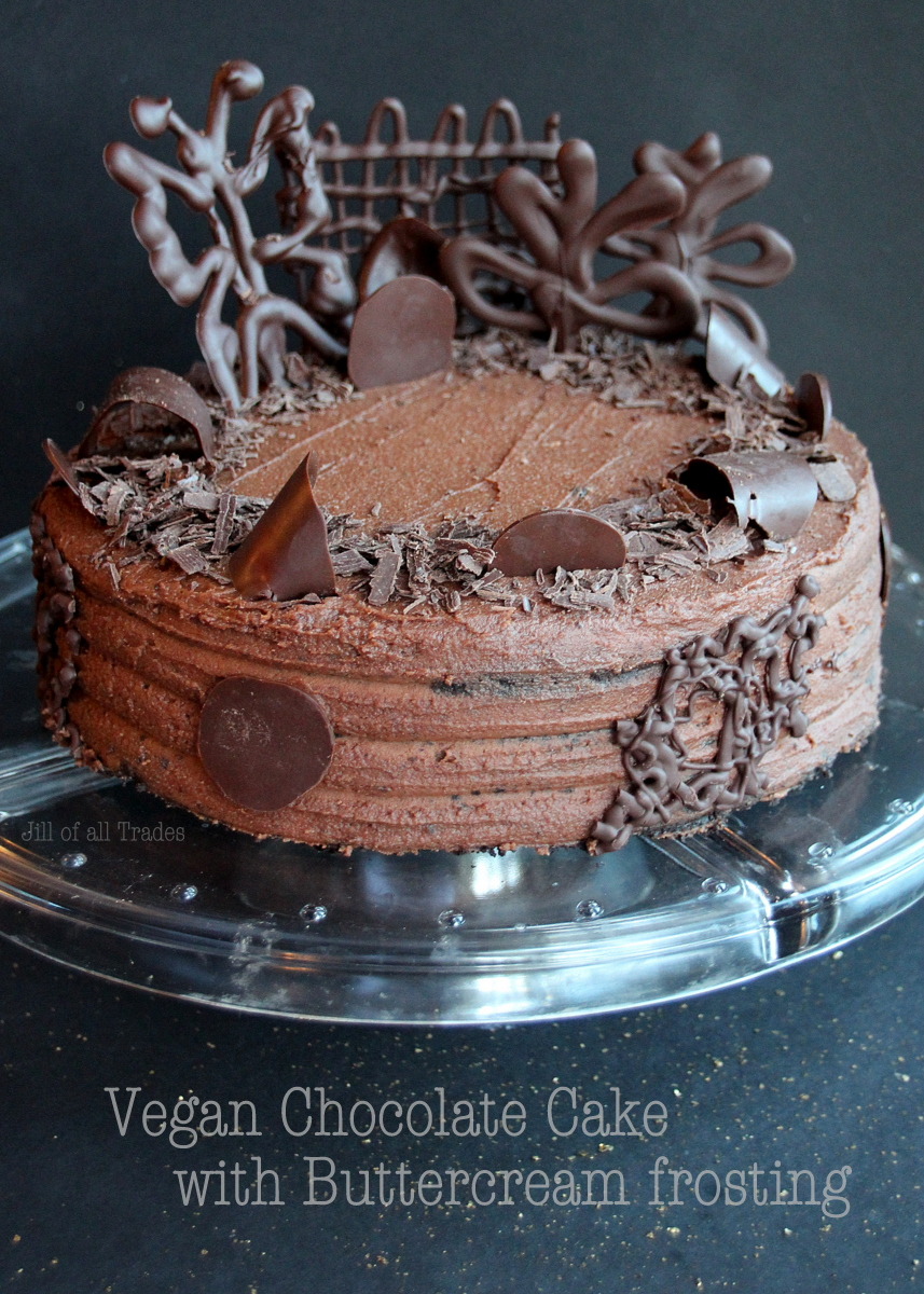 Vegan Chocolate Cake with Buttercream frosting