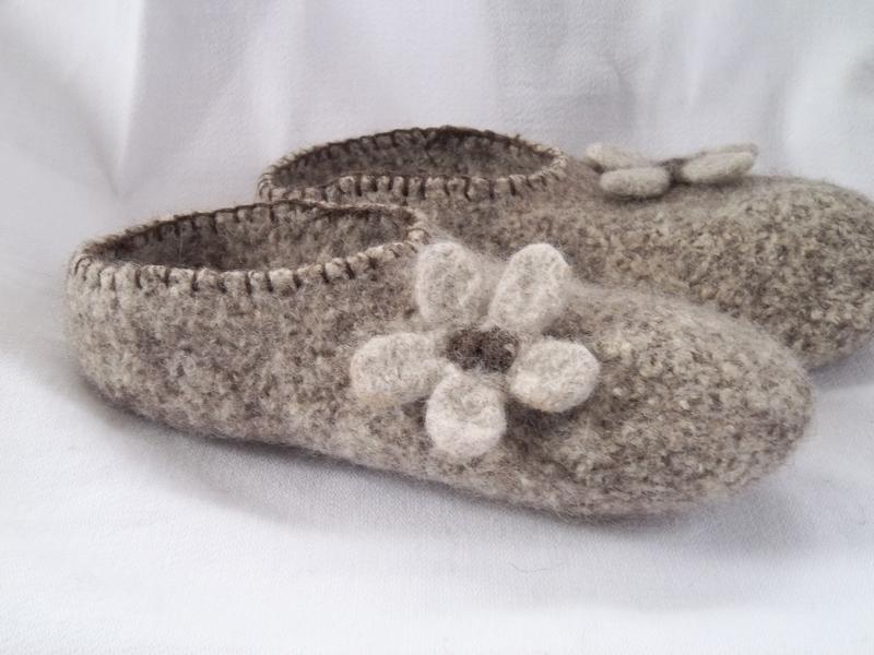 ebd306e90f724 Pilgrim Poetry: Knit Felt Slippers for Adults