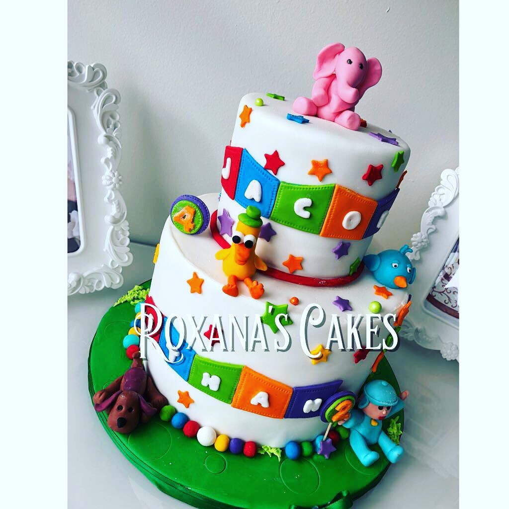 Wondrous Baking With Roxanas Cakes Pocoyo Birthday Cake Funny Birthday Cards Online Elaedamsfinfo